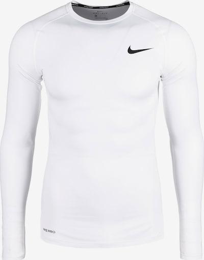 NIKE Functioneel shirt in de kleur Zwart / Wit, Productweergave