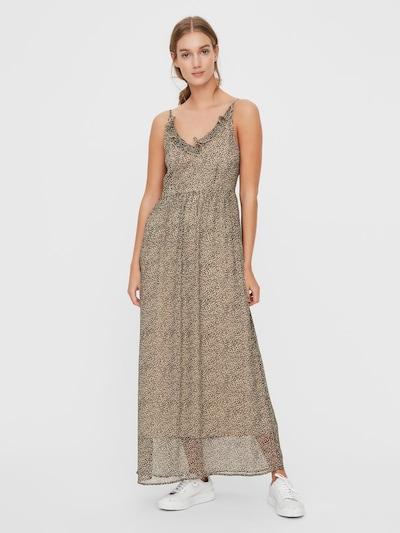VERO MODA Kleid 'KAY' in beige / schwarzmeliert, Modelansicht