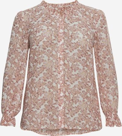 SHEEGO Bluse in rosé / weiß, Produktansicht