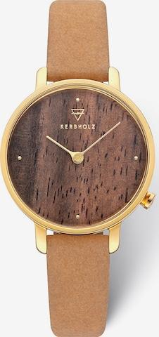 Kerbholz Analog Watch in Brown