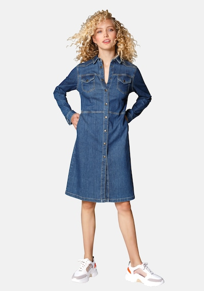 MYBC Kleid Jeanskleid in blue denim, Modelansicht