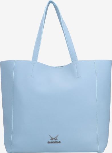 SANSIBAR Shopper in rauchblau / silber, Produktansicht