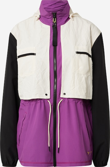 PUMA Sportjacke in beige / lila / schwarz, Produktansicht