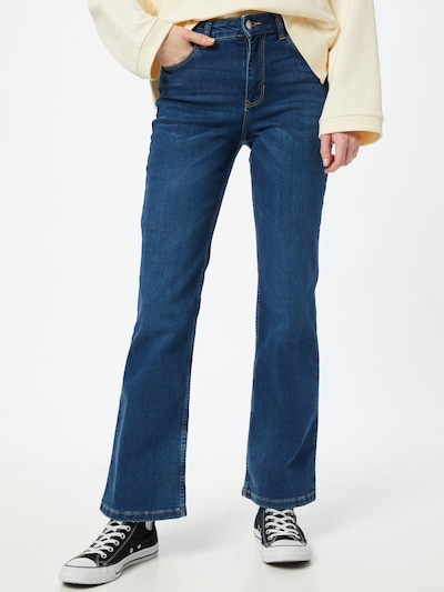 JACQUELINE de YONG Jeans 'JDYNWFLORA NEELA LIFE HW FLR MB01 DNM NO' in de kleur Blauw denim, Modelweergave