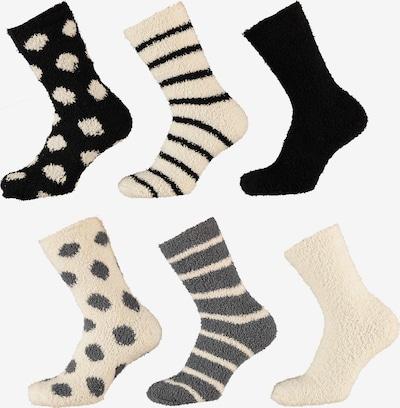 Apollo Socken in beige / grau / schwarz, Produktansicht
