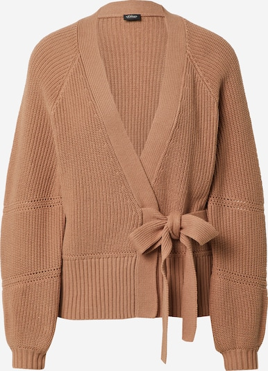 s.Oliver BLACK LABEL Плетена жилетка в кафяво, Преглед на продукта