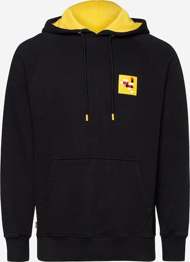 LEVI'S Hoodie 'Lego' in gelb / schwarz, Produktansicht
