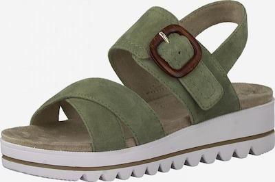 JANA Sandale in braun / grün, Produktansicht