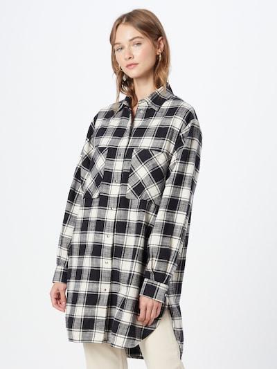 DIESEL Kleid 'SUPER-I' in schwarz / weiß: Frontalansicht