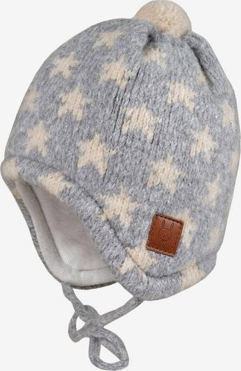 MAXIMO Mütze in creme / graumeliert, Produktansicht