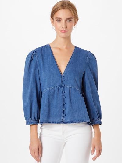 Bluză 'DAISY' ONLY pe albastru denim, Vizualizare model