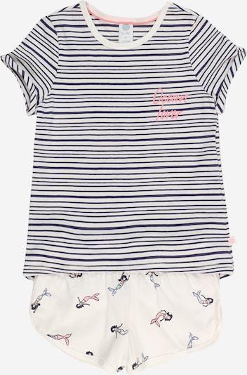 SANETTA Pyjama en marine / corail / blanc, Vue avec produit