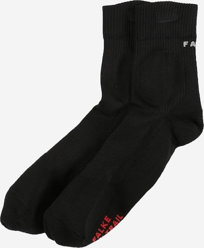 FALKE Chaussettes de sport en rouge / noir / blanc, Vue avec produit
