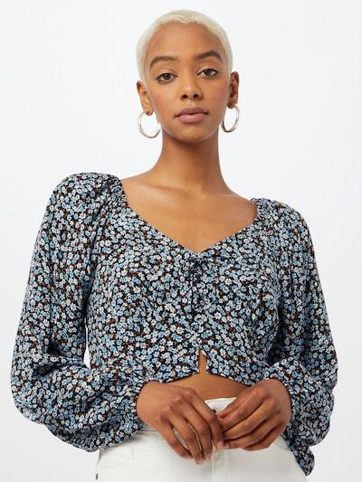 Cotton On Bluse 'APRIL' in hellblau / dunkelblau / orange / weiß, Modelansicht