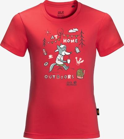 JACK WOLFSKIN T-Shirt in mischfarben / rot, Produktansicht