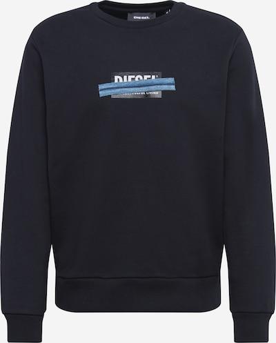 DIESEL Sweatshirt 'S-GIRK' in blue denim / schwarz / weiß, Produktansicht