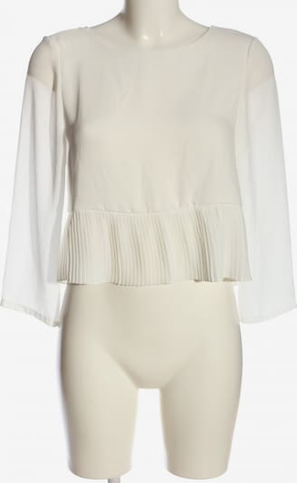 NLY Trend Langarm-Bluse in S in weiß, Produktansicht