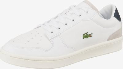 LACOSTE Sneaker 'Masters Cup' in navy / hellgrün / feuerrot / weiß, Produktansicht