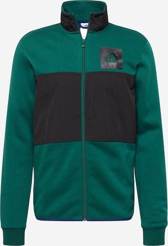 ADIDAS PERFORMANCE Αθλητική ζακέτα φούτερ σε πράσινο