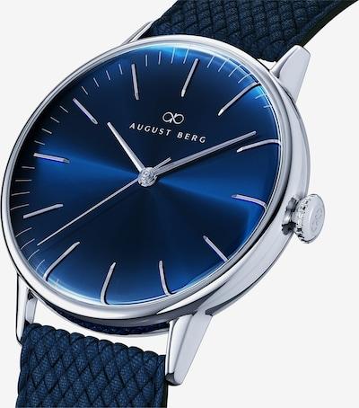 August Berg Uhr 'Serenity Deep Blue Silver Blue Perlon 40mm' in blau / dunkelblau, Produktansicht