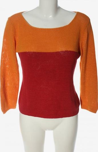 InWear Rundhalspullover in L in hellorange / rot, Produktansicht