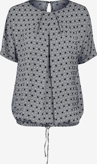 eve in paradise Bluse 'Nova' in grau / schwarz / weiß, Produktansicht