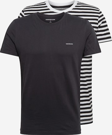 Calvin Klein Jeans Shirt '2 PACK SLIM TSHIRT' in Black