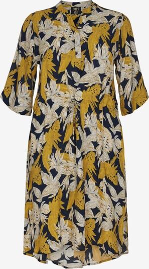 NO.1 by OX Kleid 'Judith' in dunkelblau / senf / weiß, Produktansicht