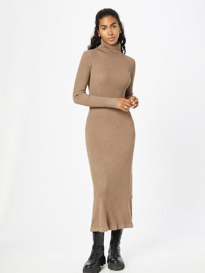 PULZ Jeans Gebreide jurk 'SARA' in de kleur Lichtbruin, Modelweergave