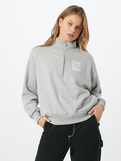 GAP Sweatshirt in grau / weiß: Frontalansicht