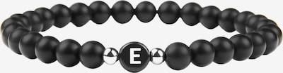 GOOD.designs Perlenarmband Buchstabenperlen Armband E in schwarz, Produktansicht