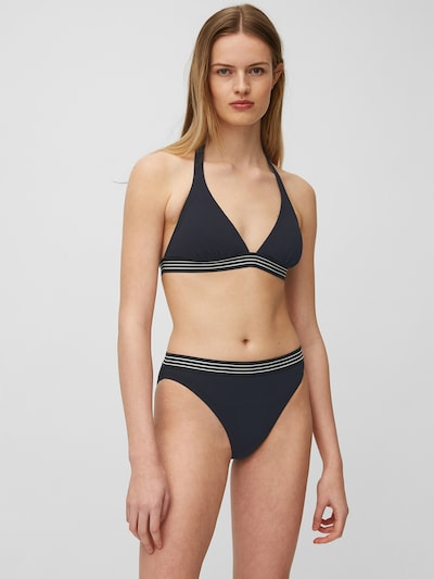 Marc O'Polo Bikini ' Solids ' en bleu foncé, Vue avec modèle