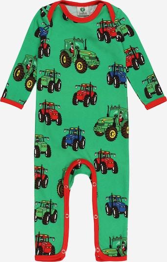 Småfolk Mono 'Tractor' en azul oscuro / amarillo / manzana / rojo / negro, Vista del producto