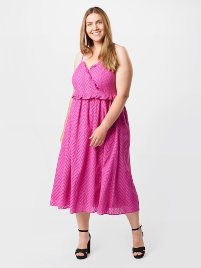 Selected Femme Curve Kleid 'KOSA' in fuchsia, Modelansicht
