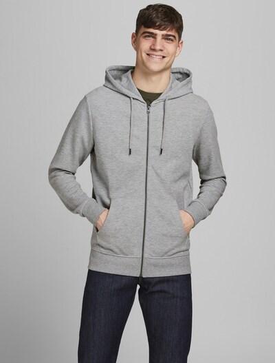 JACK & JONES Sportiska jaka, krāsa - pelēks, Modeļa skats
