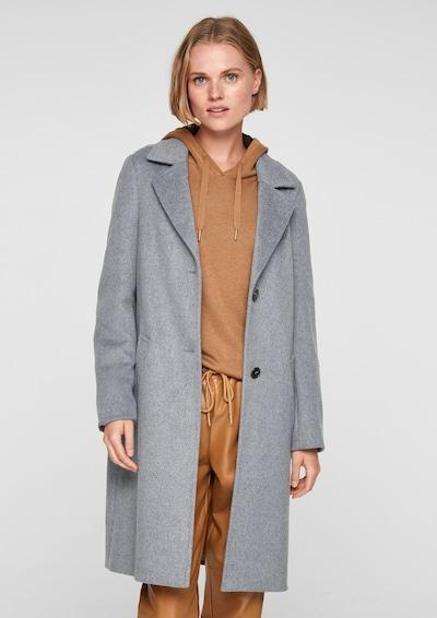 s.Oliver Between-Seasons Coat in mottled grey, View model