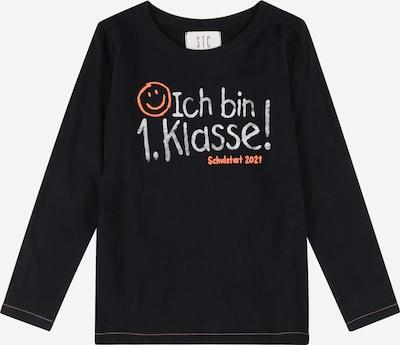 STACCATO T-Shirt en bleu marine / gris clair / orange fluo, Vue avec produit