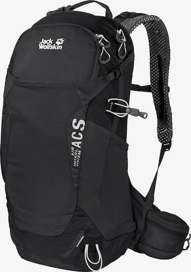 JACK WOLFSKIN Sportrugzak in de kleur Zwart / Wit, Productweergave