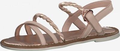 TAMARIS Sandalen met riem in de kleur Nude / Rose-goud, Productweergave