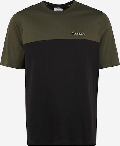 Calvin Klein T-Shirt in oliv / schwarz, Produktansicht