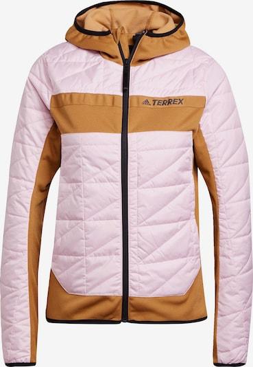 adidas Terrex Jacke in braun / rosa, Produktansicht
