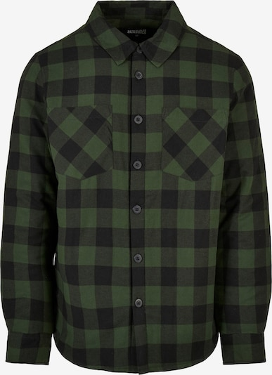 Urban Classics Hemd in dunkelgrün / schwarz, Produktansicht