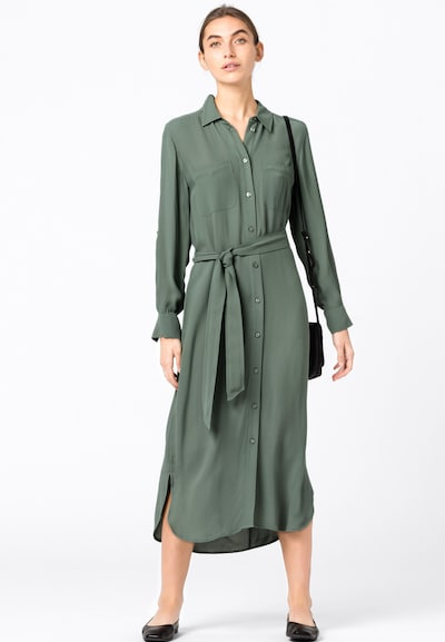 HALLHUBER Hemdkleid in dunkelgrün, Modelansicht