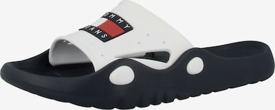 TOMMY HILFIGER Pantolette 'Heritage Poolslide' in dunkelblau / rot / weiß, Produktansicht