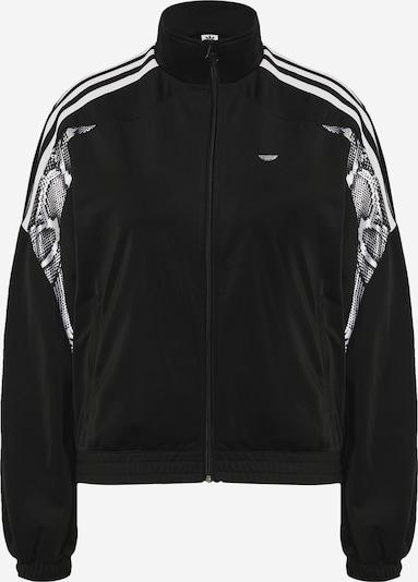 ADIDAS ORIGINALS Sweatjacke in schwarz / weiß, Produktansicht