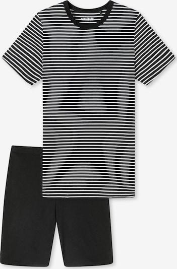 SCHIESSER Yöpuku ' Basic Kids ' värissä musta / valkoinen, Tuotenäkymä