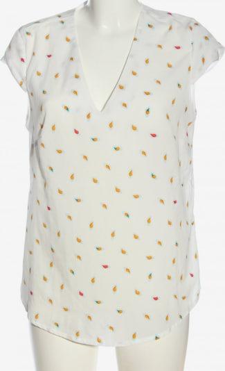 NIFE Rüschen-Bluse in L in hellorange / rot / weiß, Produktansicht