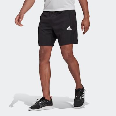 ADIDAS PERFORMANCE Sportshorts in schwarz / weiß, Modelansicht