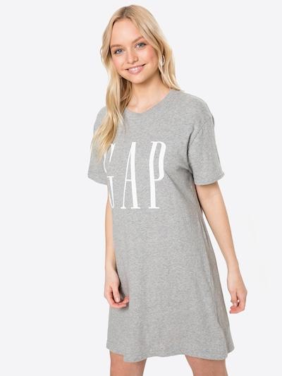 GAP Kleid in grau / weiß, Modelansicht
