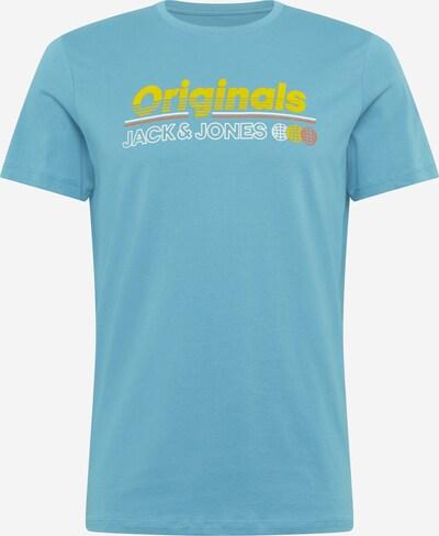 Maglietta 'WORKWEAR' JACK & JONES di colore blu / giallo / bianco: Vista frontale